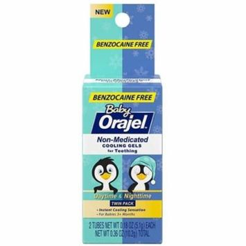 6 Pack - Baby Orajel, Non-Medicated Cooling Gels For Teething Daytime & Nighttime 0.18 oz