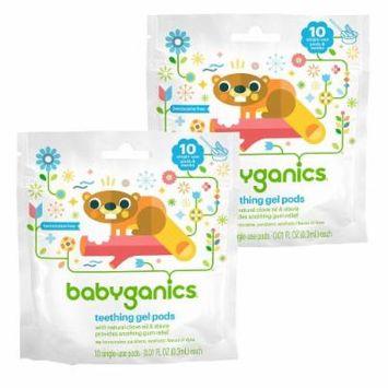 Babyganics Benzocaine Free Gel Teething Pods