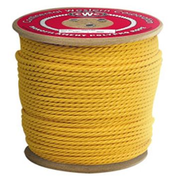 Continental Western Corporation CWC 3-Strand Polypropylene Rope - 9/16' x 600 ft, Yellow