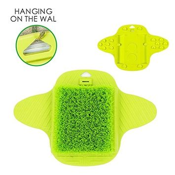 Brendacosmetic Hanging Hook Foot Brush Foot Scrubber Brush for Hard Dead Rough Dry Skin Callus Exfoliate, Foot Massager Brush Stimulate Feet Cleaner Scrub Massager Spa for Shower(Green)