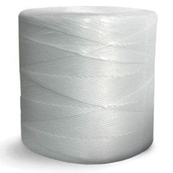 Continental Western Corporation CWC Split Film Polypropylene Tying Twine - 1 Ply, 90 lbs Tensile, White (Pack of 4 rolls)