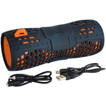 Sportsman Water Resistant Wireless Speaker Color: Black / Orange