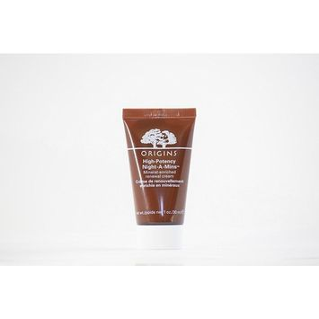 Origins High Potency Night A Mins Renewal Cream - 0.5 oz Tube Deluxe Travel Size (Pack of Two)