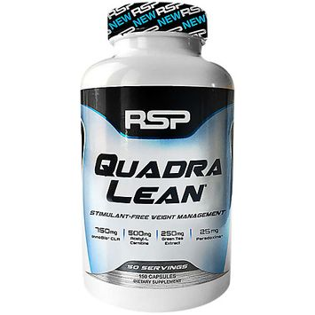 RSP Nutrition QuadraLean 100% Stimulant Free Thermogenic Weight Loss Capsules, 150 Ct