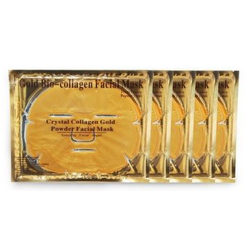Tonewear Face and Eye Mask of Crystal Collagen of Gold Powder (5 packs)