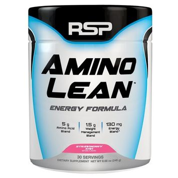 RSP AminoLean - All-in-One Pre Workout, Amino Energy, Weight Management Supplement with Amino Acids, Complete Preworkout Energy & Natural Weight Management for Men & Women, Strawberry Kiwi, 30 Serv [Strawberry Kiwi]