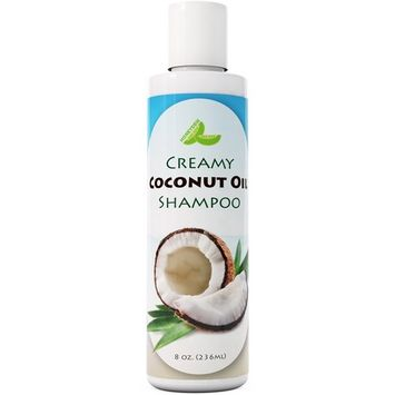 All Natural Coconut Oil Shampoo for Hair Growth - Hair Regrowth Treatment for Men and Women - Best Sulfate Free Moisturizing Shampoo - Safe for Color Treated Hair - Nourishing Hair and Scalp Treatment