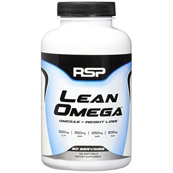 RSP LeanOmega Fish Oil CLA Capsules, High EPA & DHA Omega-3 + CLA for Heart Health, Joint Support & Weight Management Support, 120 ct [Lean Omega]