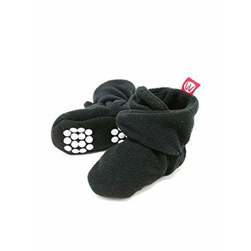 Wrapables® Fleece Baby Booties with Anti-Skid Bottoms, Black, 12-18 M [name: shoe_size value: shoe_size-12-18m]