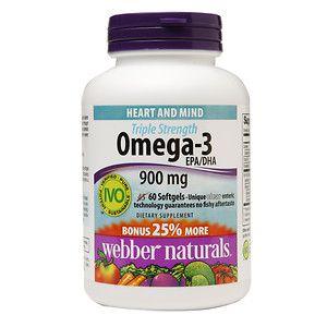 Webber Naturals Triple Strength Omega-3 EPA/DHA 900-mg, 60 ea