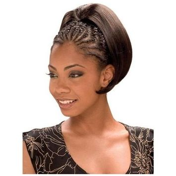 PRESTO GIRL (1B Off Black) - Model Model Glance Synthetic Hair Drawstring Ponytail