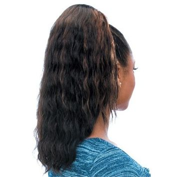 SUPER WAVE (1 Jet Black) - Model Model Glance Synthetic Hair Drawstring Ponytail