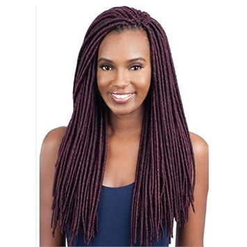 2X MEDIUM SOFT FAUX LOC 18