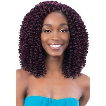 SPIRAL WAND CURL (1B Off Black) - Model Model Glance 2X Wand Curl Synthetic Braid