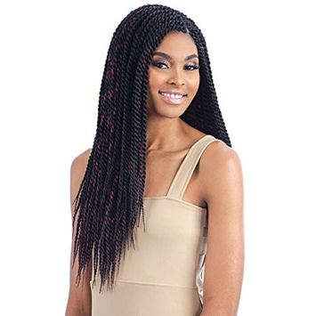 SENEGALESE TWIST LARGE [1B Off Black] - Model Model Glance Crochet Bulk Braiding Hair
