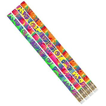 Musgrave Pencil MUS2496DBN Peace Pencils - 12 Dozen - 12 per Pack