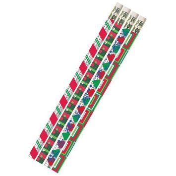 Musgrave Pencil MUS2451DBN Christmas Creations Pencils - 12 Dozen - 12 per Pack