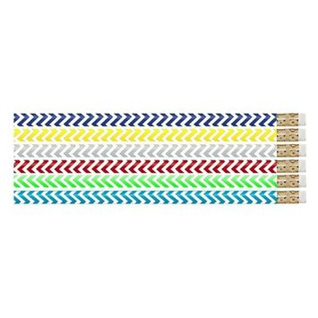 Musgrave Pencil MUS2540DBN Chevron Chic Pencils - 12 Dozen - 12 per Pack