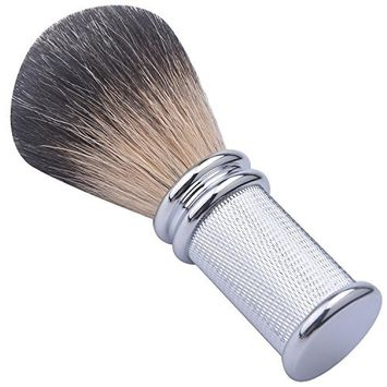 CSB Hand Made Pure Black Badger Hair Shave Brush with Chrome Metal Handle