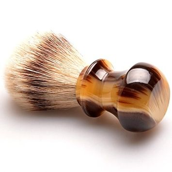CSB Silvertip Badger Shaving brush, 100% Good Quality Silvertip Badger Hair with Faux Horn Resin Handle Luxury Facial Care Tools for Safety Razor