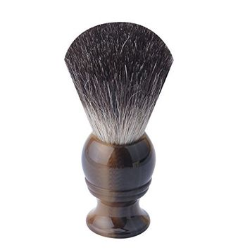 CSB pure Black Badger Hair Shaving Brush with Faux Ox Horn Handle Shave Brush
