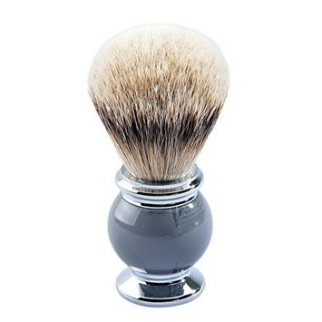 CSB Tradition Men's Grooming Shaving Brush with Silvertip Badger Hair Knots Metal Resin Handle