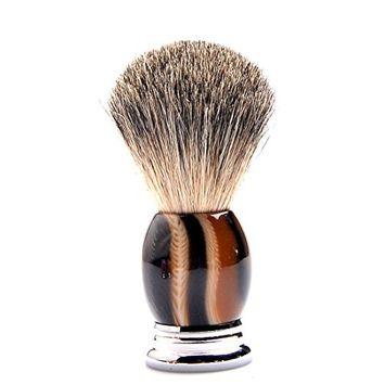 CSB Pure Badger Hair Bristles Shaving Brush Black Ox Horn Handle Men's Grooming Brush