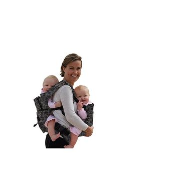 Stuff 4 Multiples Twingaroo Twin Carrier, Gray Floral
