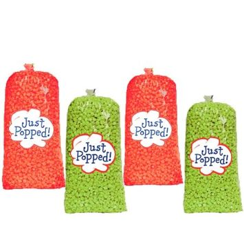 Just Popped Christmas Colored Red and Green Holiday Popcorn 4-Pack (72 Cups per Case)