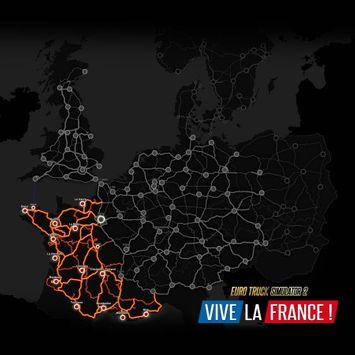 Merge Games Euro Truck Simulator 2 - Vive La France (PC) (Digital Download)
