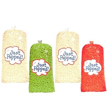 Just Popped Cinco De Mayo Colored Popcorn 4-Pack (72 Cups per Case)