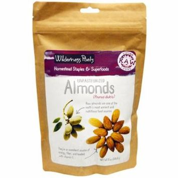 Wilderness Poets, Unpasteurized Almonds, 8 oz(pack of 1)