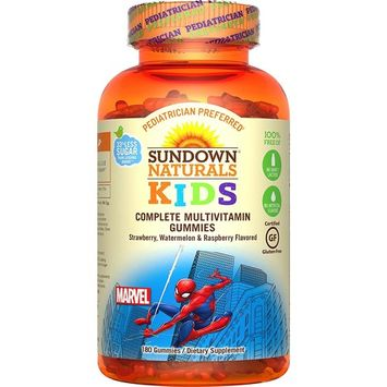 Sundown Naturals® Kids Marvel Spiderman® Complete Multivitamin, 180 Gummies [Marvel Spiderman]