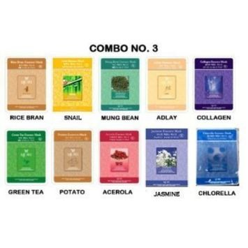 Essence Mask Combo No. 3 - 10 Different Kind Of Our Natural Essence Mask Combo No. 3