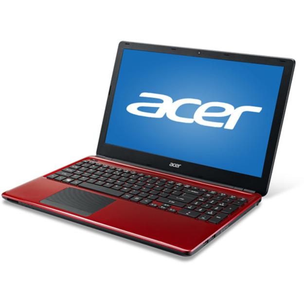 "Acer Red 15.6"" Aspire E1-532-29574G50Mnrr Laptop PC with Intel Celeron 2955U Dual-Core Processor, 4GB Memory, 500GB Hard Drive and Windows 7 Home Premium"
