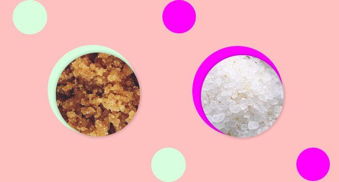 What's the Difference Between Sugar and Salt Scrubs?