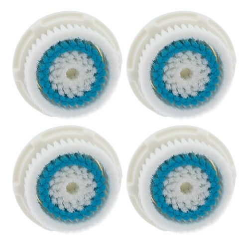 4-Pack Deep Pore Facial Cleansing Brush Heads for Clarisonic Mia 2 Pro