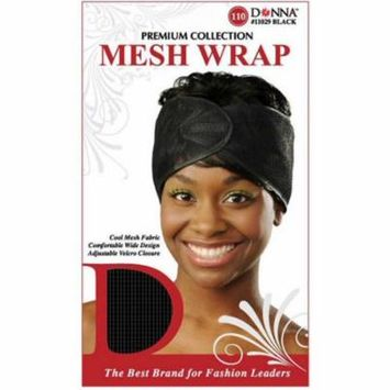 2 Pack - Donna collection Mesh Wrap, Black 1 ea