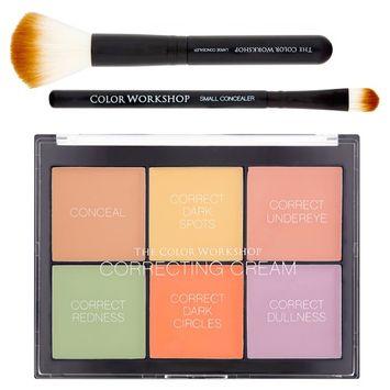 The Color Workshop Correcting Cream Palette Makeup Collection, 8 piece