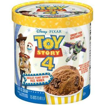 DISNEY Pixar Toy Story 4 Chocolate Peanut Butter Prize Winner Light Ice Cream, 1.5 qt. Tub