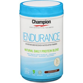 Champion Naturals - Endurance Natural Daily Protein Blend Chocolate Chunk - 16 oz.