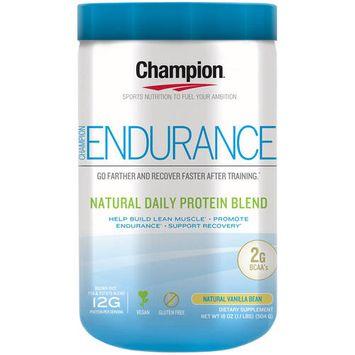 Champion Naturals - Endurance Natural Daily Protein Blend Natural Vanilla Bean - 18 oz.