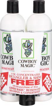 Cowboy Magic® Rosewater Shampoo & Conditioner Set with Bonus Free Concentrated Detangler & Shine