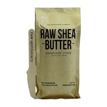 Raw, Unrefined African Shea Butter, Ivory, 1 lb | 100 Percent Pure with Zero Additives by Raw Apothecary | For Body, Hair & Skin []