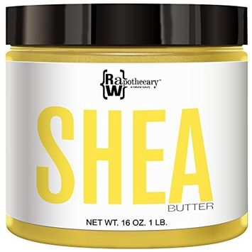 Yellow Shea Butter, 100% All Natural by Raw Apothecary- Top-Grade, Unrefined and Additive Free Body Butter (1 Pound)