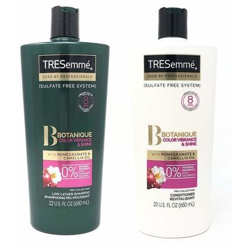 Tresemme Pro Collection Haircare - Botanique Color Vibrance & Shine with Pomegranate & Camellia Oil - Shampoo & Conditioner Set - Net Wt. 22 FL OZ (650 mL) Per Bottle - One Set