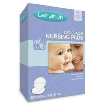 Lansinoh 20265 Disposable Nursing Pads Jumbo Size Package, Pack of 8 (60 Each)