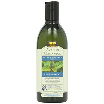 (2 Pack) - Avalon - Peppermint Bath & Shower Gel | 350ml | 2 PACK BUNDLE: Health & Personal Care