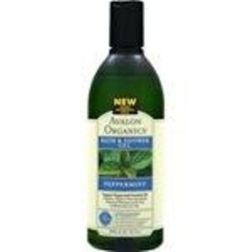 Avalon Organics Revitalizing Bath & Shower Gel, Peppermint, 12 fl oz [Bath & Shower Gel]