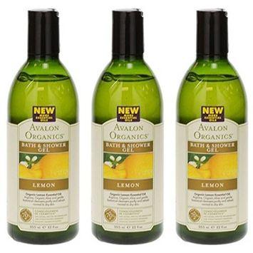 (3 PACK) - Avalon - Lemon Bath & Shower Gel | 350ml | 3 PACK BUNDLE by Avalon : Beauty